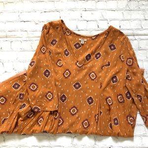 Ecote Copper Long Sleeve Dress